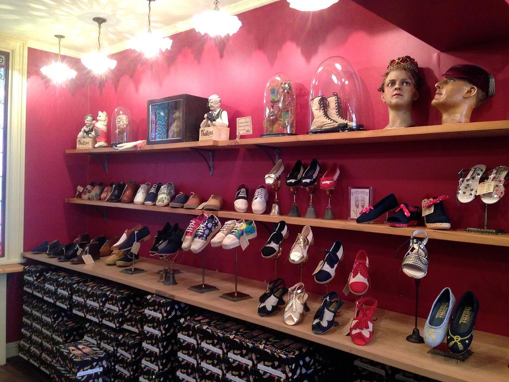 витрины для обувного магазина с фото